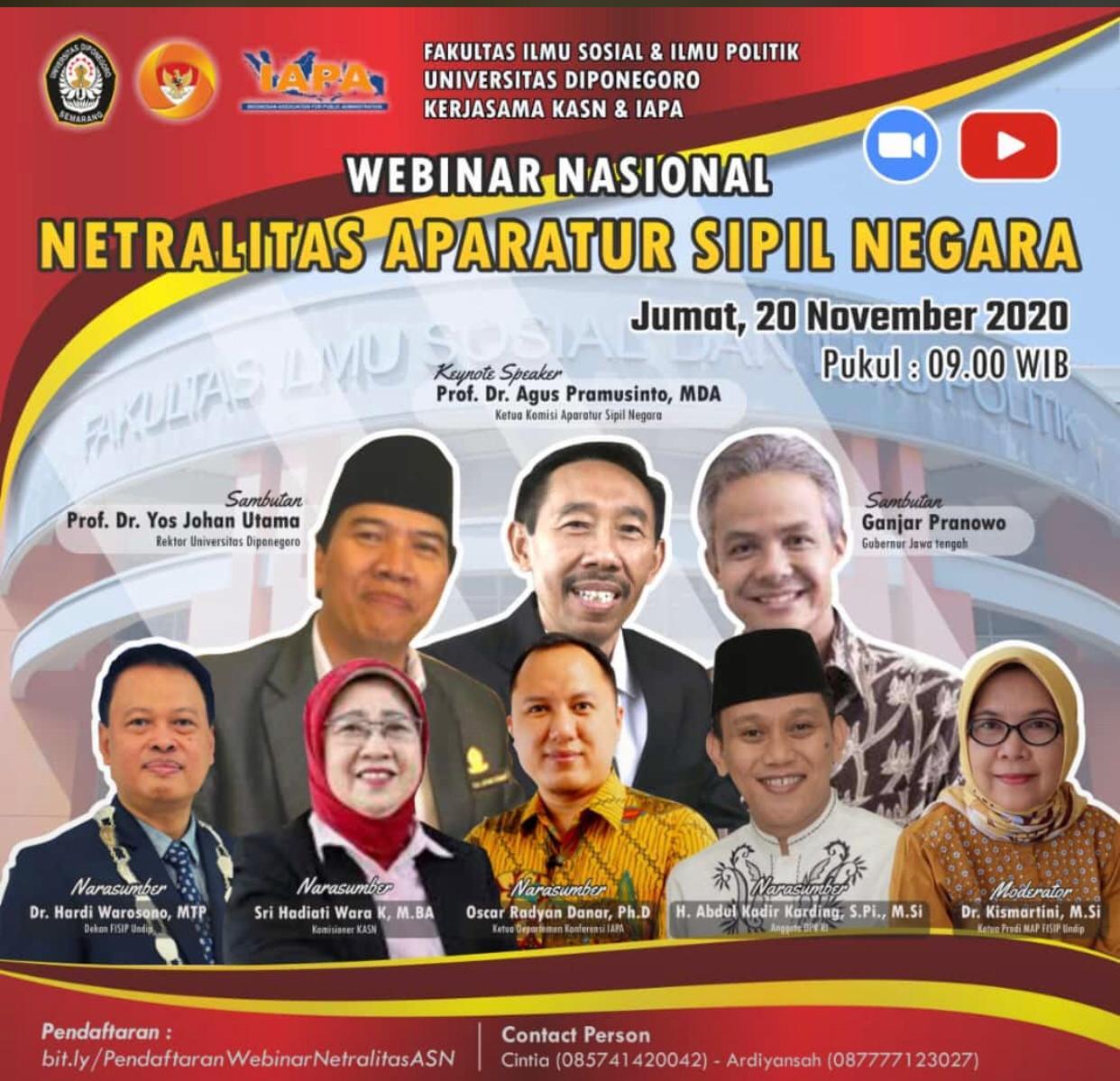 WEBINAR NASIONAL NETRALISASI APARATUR SIPIL NEGARA